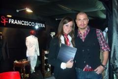 Mister Italia 2010 Michele Falcicchio nello stand di Francesco Spera